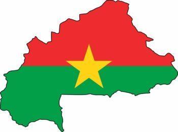 Carte du Burkina Faso avec son drapeau