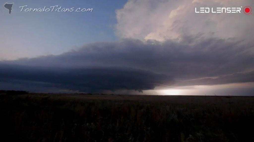 October 12, 2012 Storm Chase | Dusk Supercell Timelapse