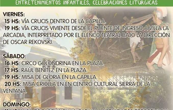 Villa Arcadia – Se vienen las actividades de «Semana Santa» a la localidad