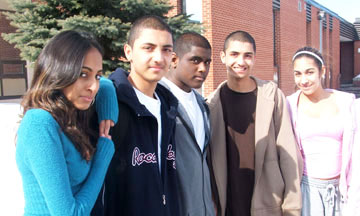 West Hill student Tashwna Jackson, (right) and friends