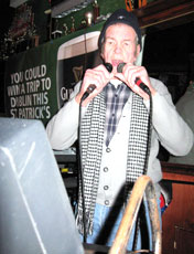 Wild Bill with a mic in each hand