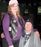Wild Bill relaxes with his daughter Susan
