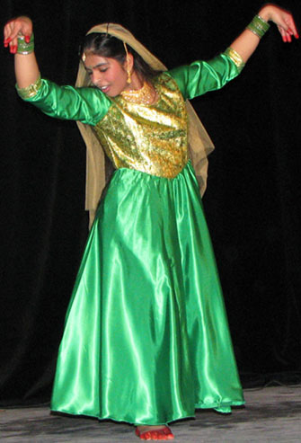 Jismey, a UTSC student, performs a traditional South Asian dance at the school's Cultural Mosaic talent show. The event featured 13 acts and took place on Feb. 28.