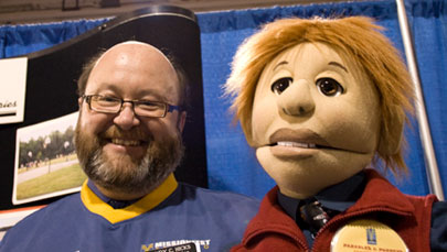 Evangelism can take many different forms, even ventriloqiusm, as Randy Hicks of the Canadian Sunday School Mission does.