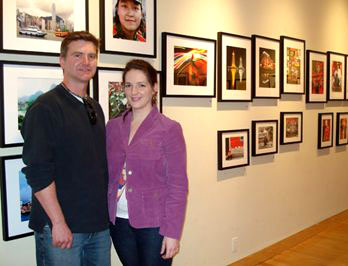 Susan Martha and her boyfriend Paul Graham spent Saturday afternoon at the exhibition.