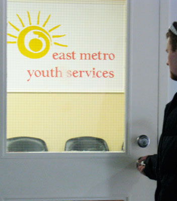 A local entering East Metro Youth Services; at last a place that offers support for youth with Asperger's syndrome.