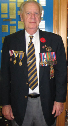 William Goddard, a Second World War veteran spoke about his experiences during the war.