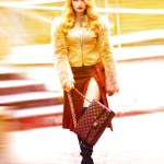 women walking for fashion shoot with warm tones