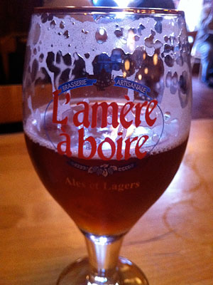 Microbrew at L'amère à boire