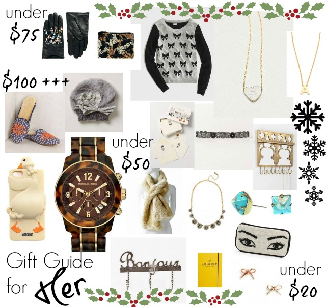 Christmas gift guide for her chic everywhere for Christmas gift ideas for her