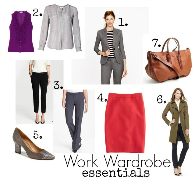 work wardrobe essentials, what you need in a work wardrobe, work outfits