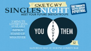 Sketchy Singles Night - meet your future sketch troupe