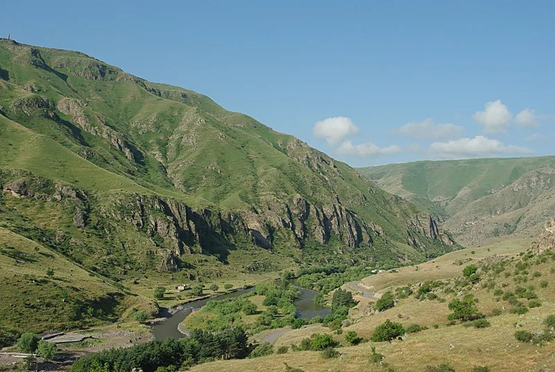 The Mrtkvari valley at Vardzia.