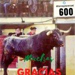 600 seguidores en nuestra cuenta de Twitter  @torosytoreros6 .Muchas gracias a todos!!! Juntos en DEFENSA DE LA TAUROMAQUIA