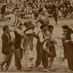 ALGEMESÍ 1947:Pepe Catalán y Pablo Lalanda a hombros