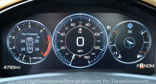 The Tft Gauge Cluster Of The 2013 Cadillac Xts Awd Premium