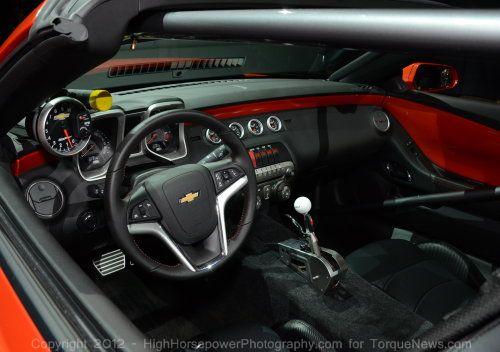 The Interior Of The 2012 COPO Camaro Convertible Torque News