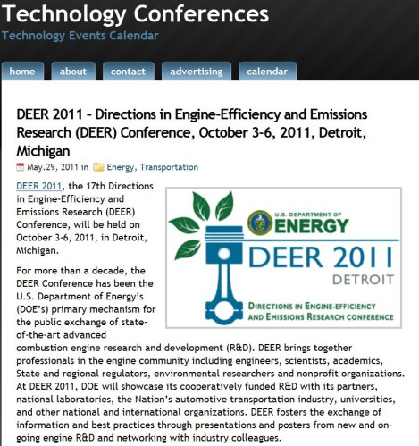 Evening 10/03 Update: 2011 DEER Conference at Detroit ...