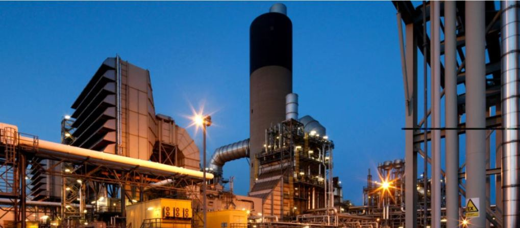 Vitol Power International (VPI) pictured illuminated at dusk.