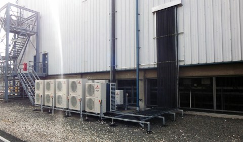 VPI Sub1 front view of air conditioning installation by Torr Engineering