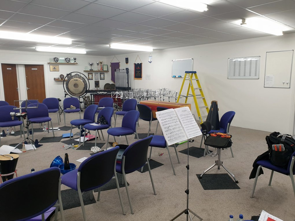 City of Hull Brass Band rehearsal room in Barton-Upon-Humber