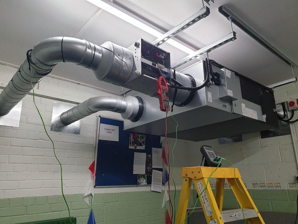 Mitsubishi SAF heat exchanging ventilation system