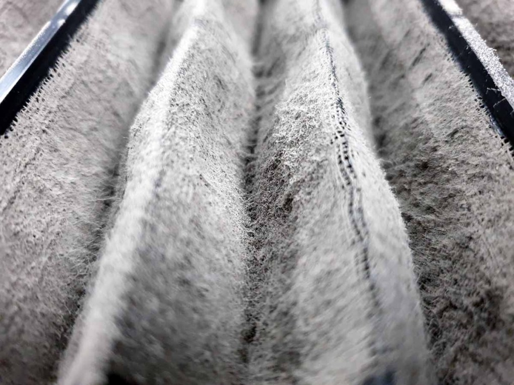 Dirty ceiling cassette air con filter