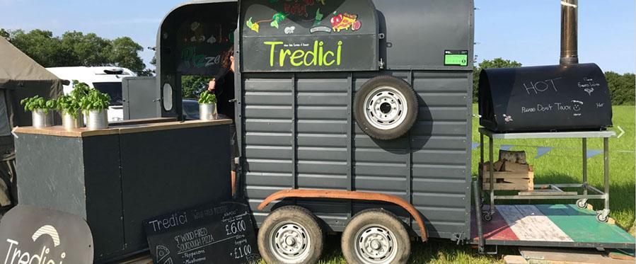 Tredici's mobile pizza unit.