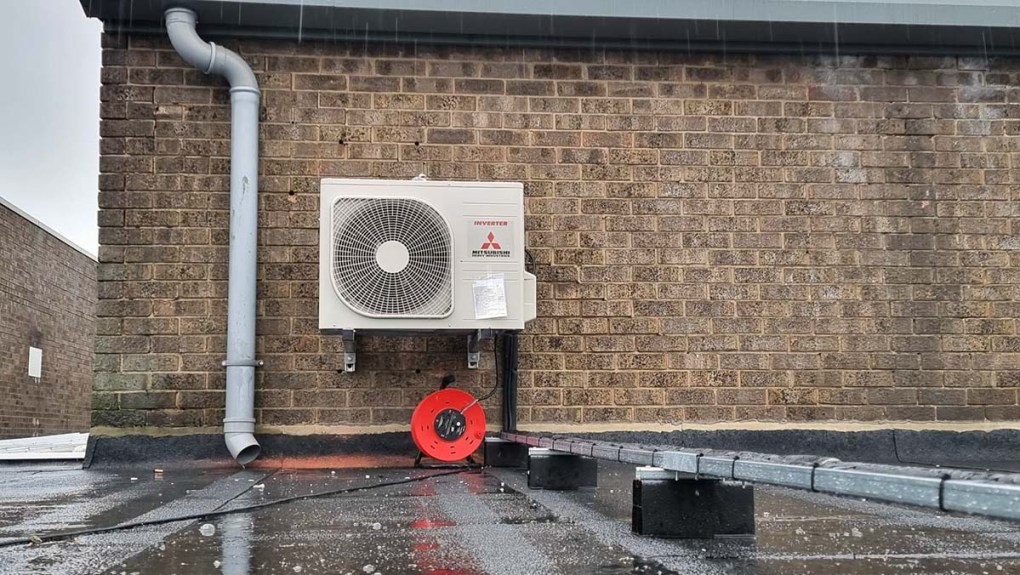 CARS of Grimsby outdoor air conditioning condensing unit installation