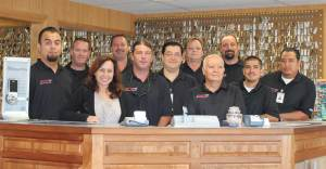 Torrance Lock and Key Owners Kevin & Danielle Morris with staff