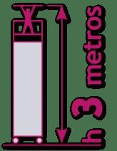 torre móvil de 3 metros