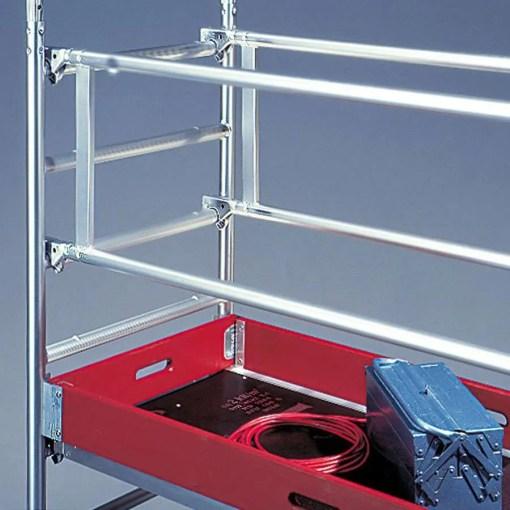 Superficie de trabajo de un andamio de aluminio