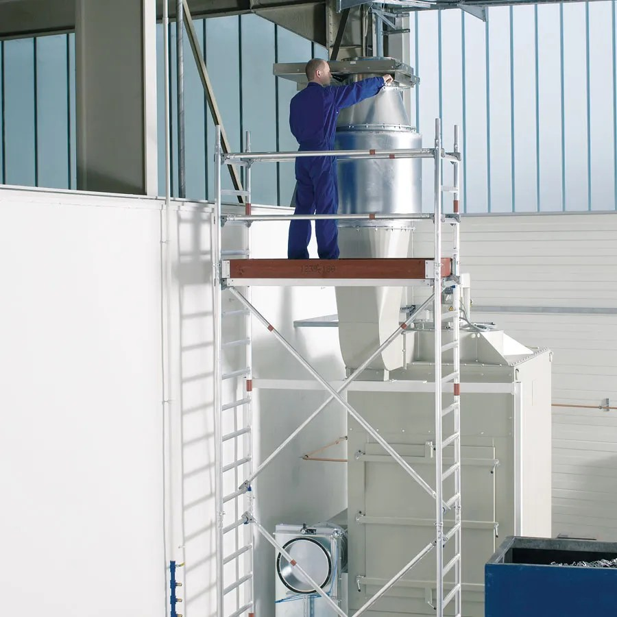 Andamio de aluminio para tareas de mantenimiento