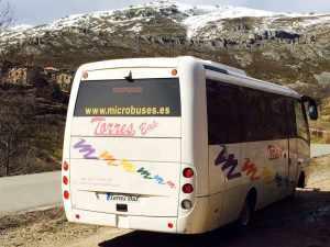 visita monumento madrid nieve autobus microbus empresa transporte