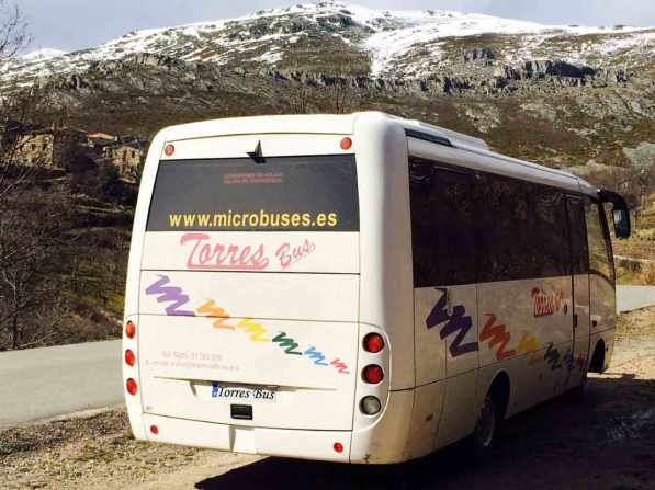 यात्रा स्मारक माद्रीद बर्फ बस माइक्रोबास कंपनी परिवहन