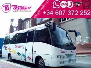 minibus rental minibus 25 seats in madrid
