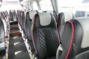 Minibus rental with comfortable seats for long trip