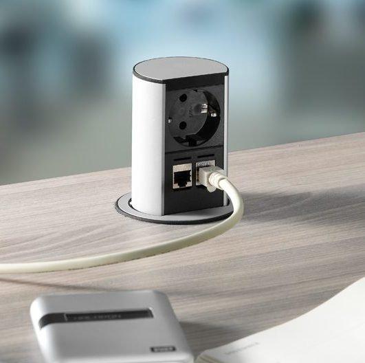 Torretta elettrica multipresa a scomparsa configurabile - Prese a scomparsa cucina ...