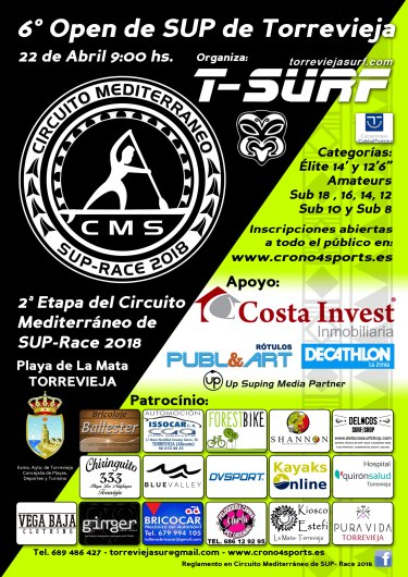 SUP Race 2018 Torrevieja Surf
