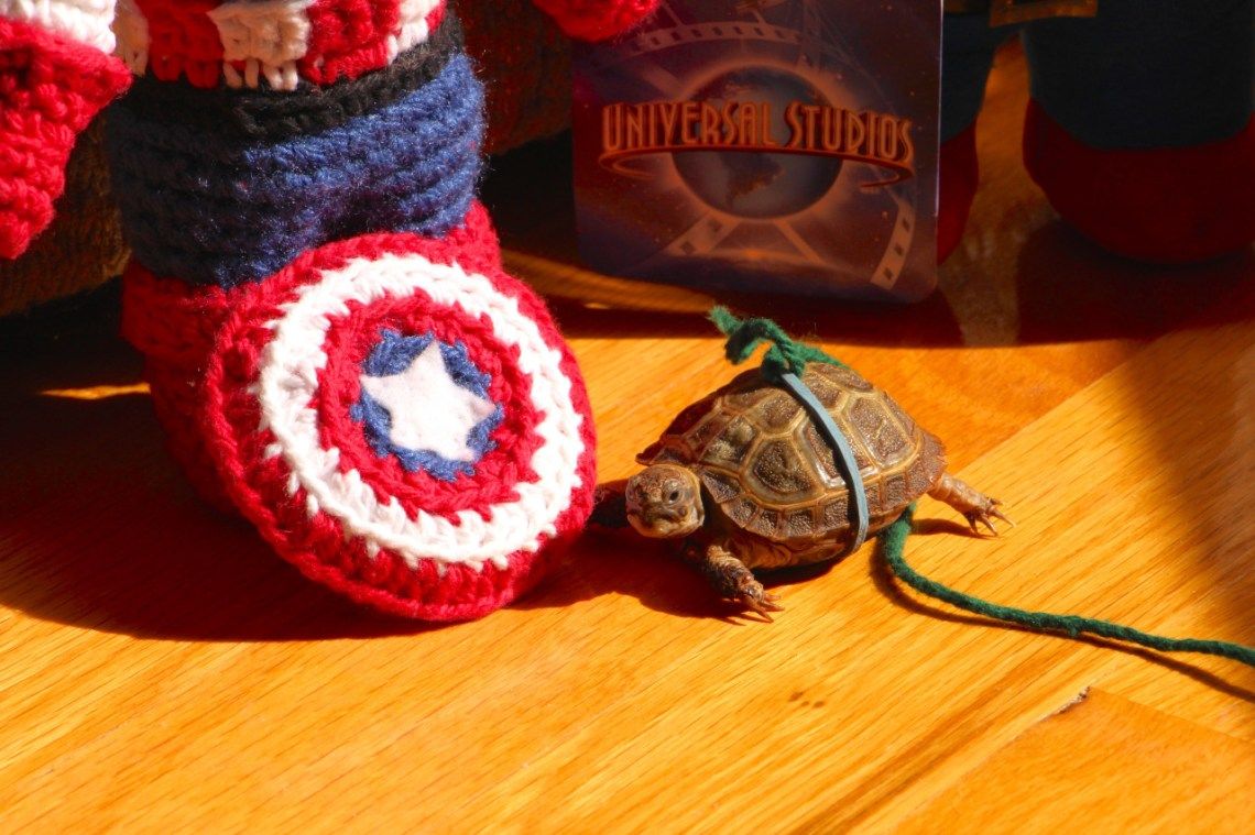 Do you think ami Cap would let me try on his shield, Mommy?