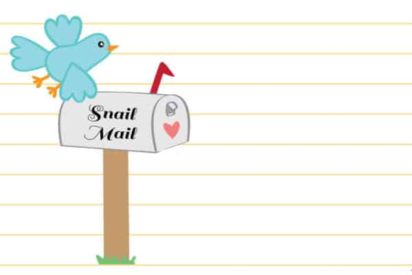 Printable Snail Mail Stationery Set - Envelope and matching stationery paper printables