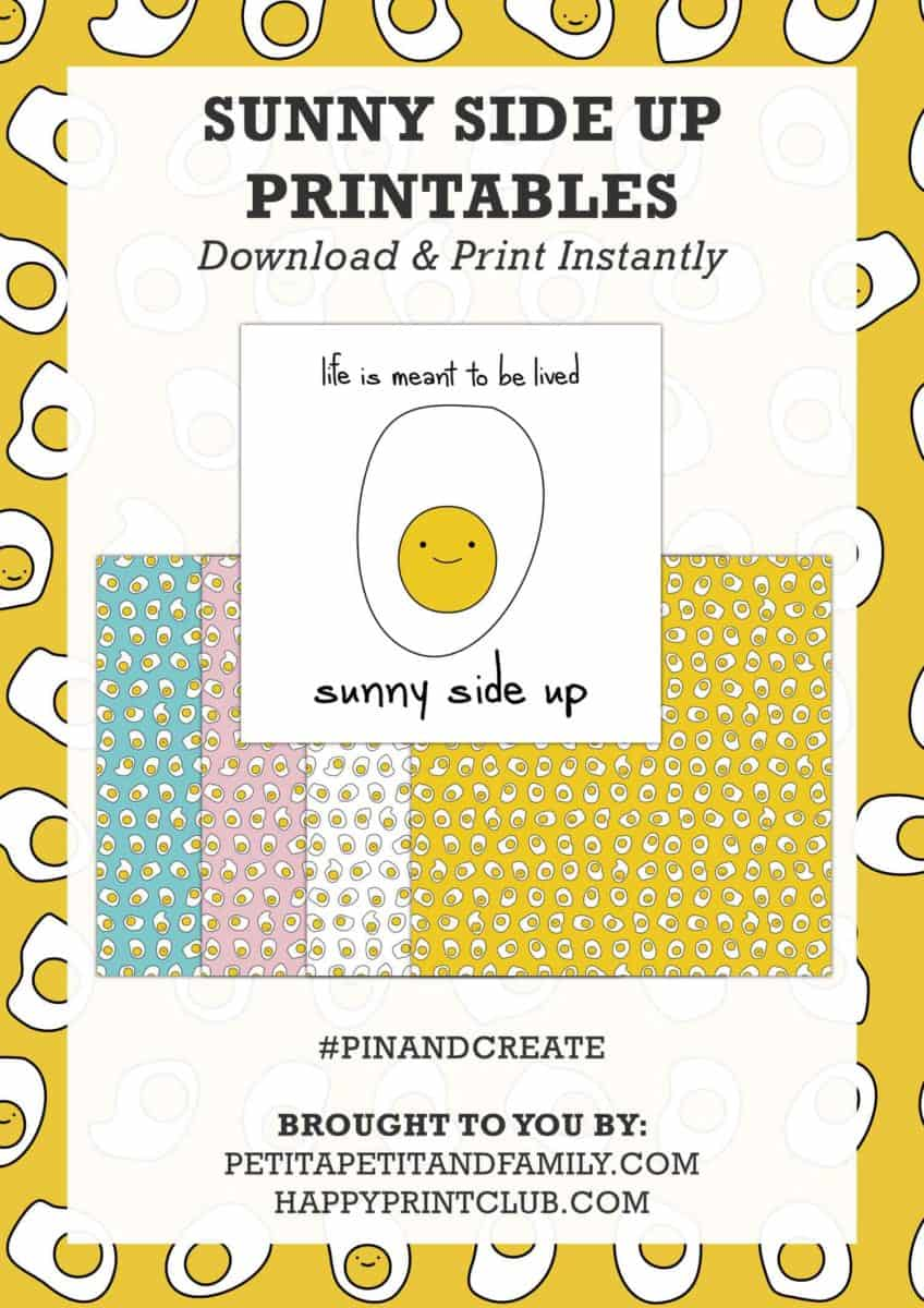 sunny side up printables