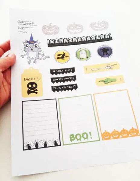 halloween free printable // tortagialla.com newsletter freebie