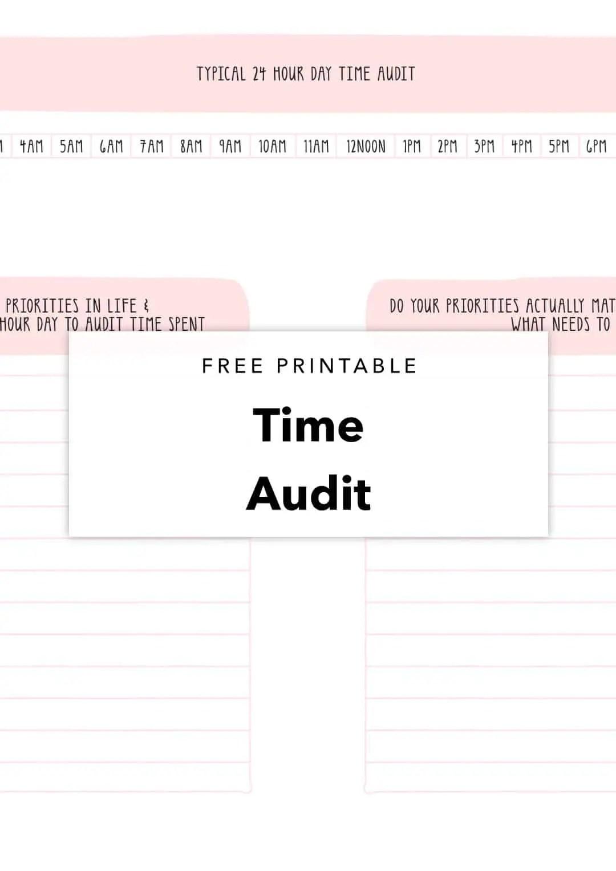 Free Printable Time Audit Planning