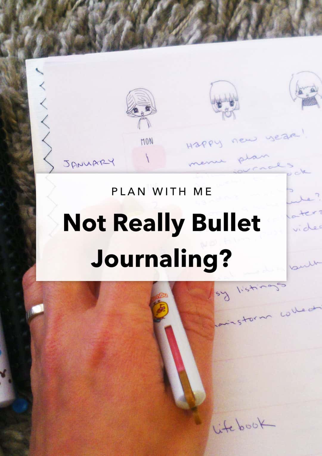 not really bullet journaling