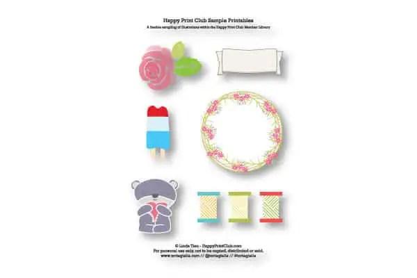 printable sticker embellishments