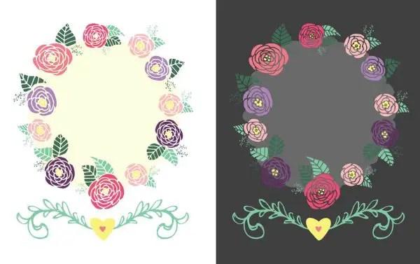 floral frame printable blank