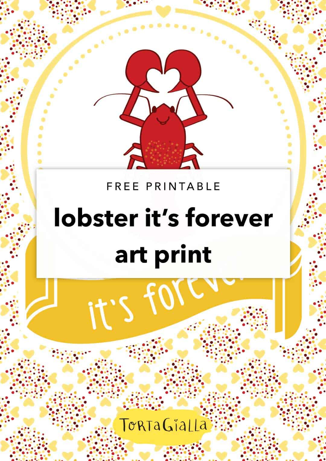 free printable lobster its forever art print