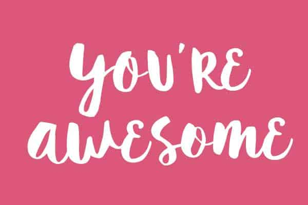 you're awesome greeting card