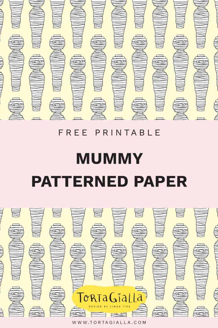 Free Printable Mummy Patterned Paper